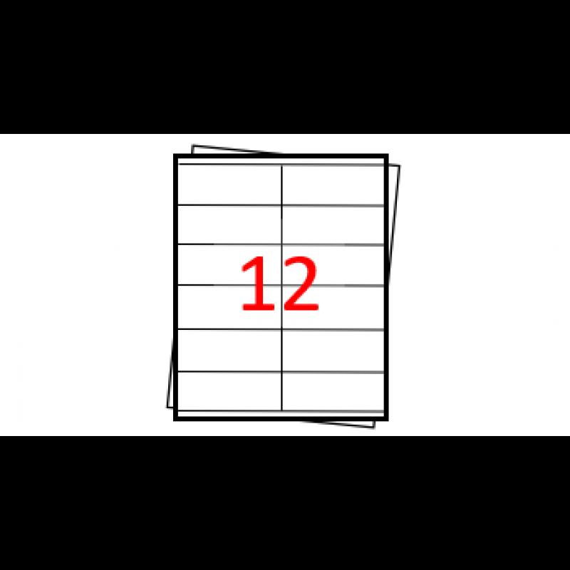 Etiquetas autoadesivas Folha A4 - 12 etiquetas por folha