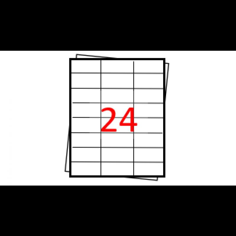 Etiquetas autoadesivas Folha A4 - 24 etiquetas por folha