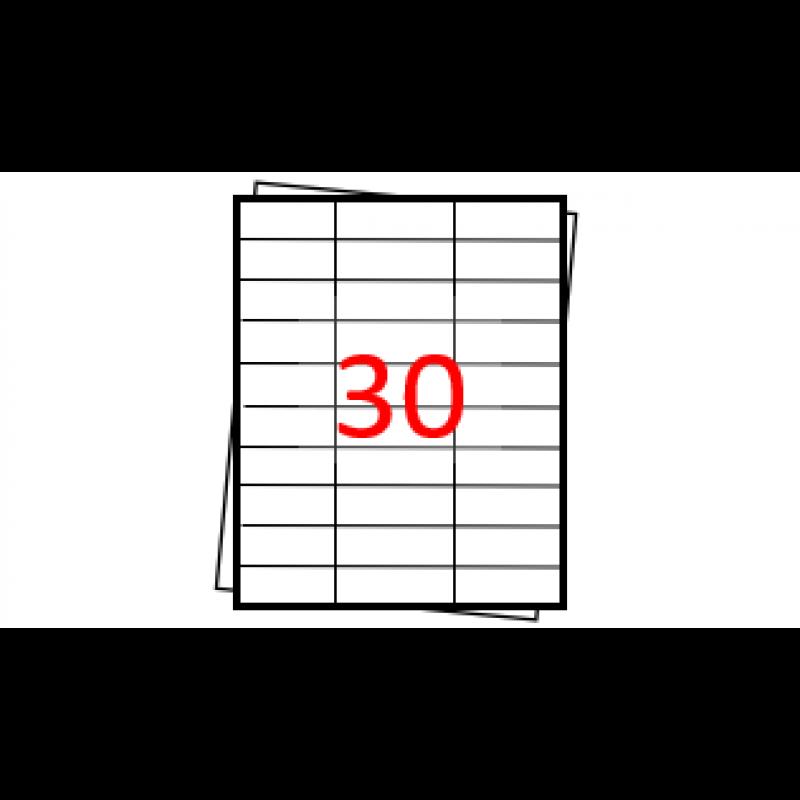 Etiquetas autoadesivas Folha A4 - 30 etiquetas por folha