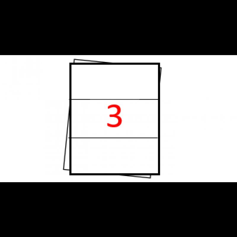 Etiquetas autoadesivas Folha A4 - 3 etiquetas por folha