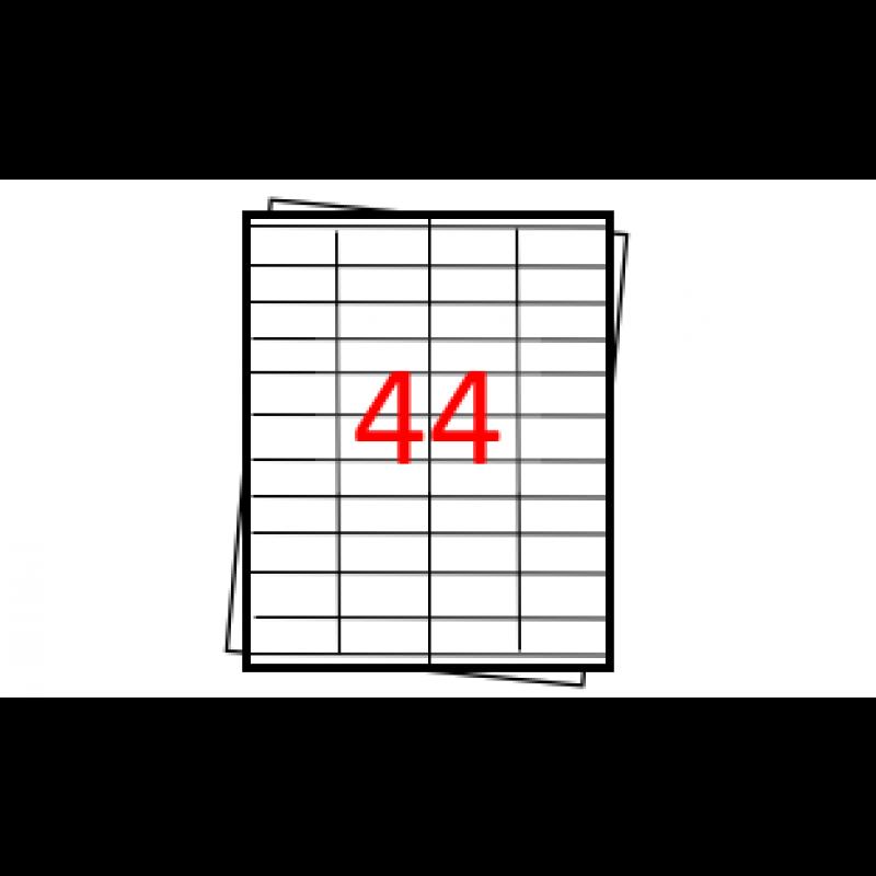 Etiquetas autoadesivas Folha A4 - 44 etiquetas por folha