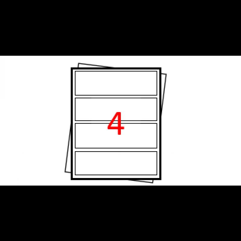 Etiquetas autoadesivas Folha - A4 - 4 etiquetas por folha horizontal