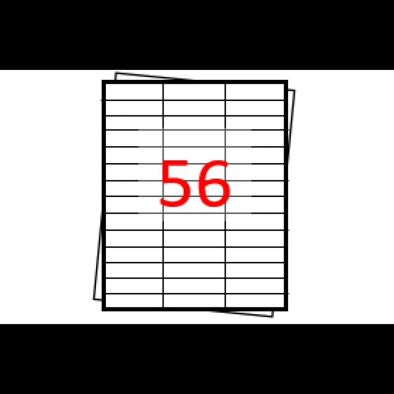 Etiquetas autoadesivas Folha A4 - 56 etiquetas por folha