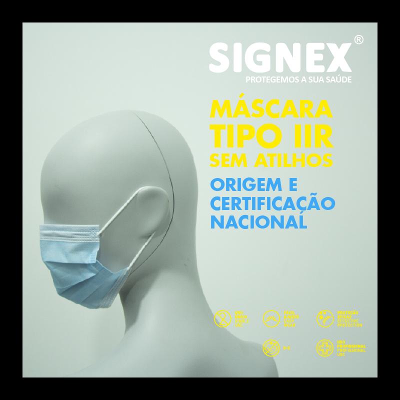 Máscaras Tipo IIR Cirúrgicas Sem atilhos (1 CX - 50 uni)
